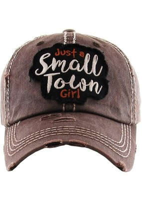 Too Too Hat Small Town Girl Distressed Hat - Brown