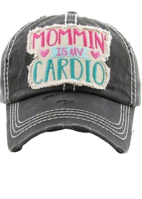 Too Too Hat Mommin' is my Cardio Hat - Charcoal