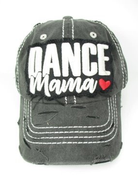 Too Too Hat Dance Mom Distressed Hat - Charcoal
