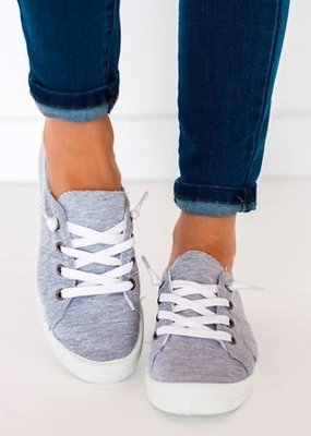 Miami Shoe Gray Slip On Lace Shoes