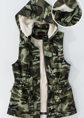 trend notes Camouflage Sherpa Vest