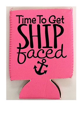 Diamond Diva Designs Ship Faced Coozie