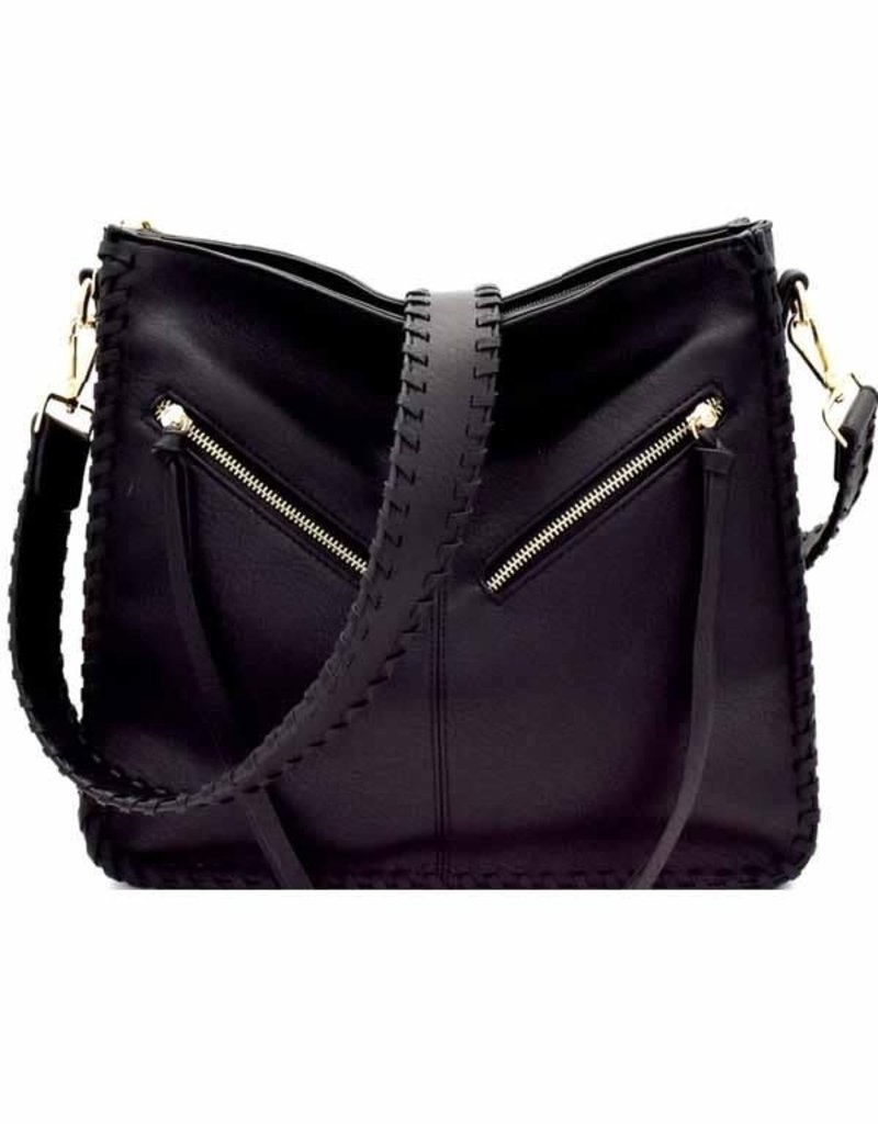 Catherine K Black Bag with Braided Strap