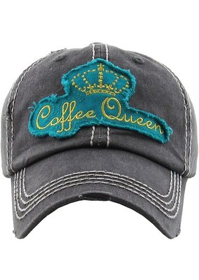 Too Too Hat Coffee Queen Hat - Teal & Charcoal