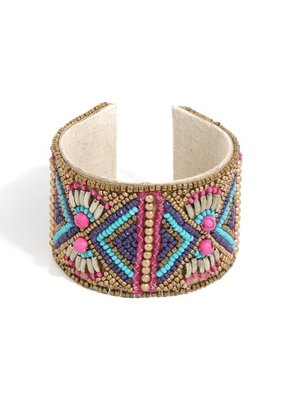 Anarchy Street Boho Beaded Cuff Bracelet