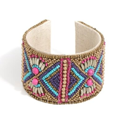 Anarchy Street Boho Beaded Cuff Bracelet