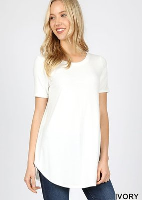 Zenana Outfitters Perfect Basic Tee - Ivory