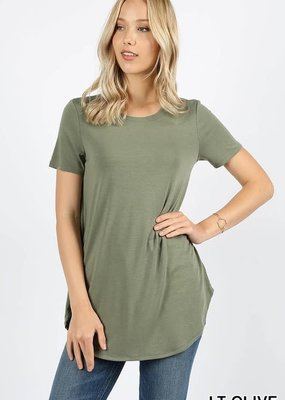 Zenana Outfitters Perfect Basic Tee - Light Olive