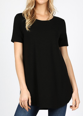 Zenana Outfitters Perfect Basic Tee - Black