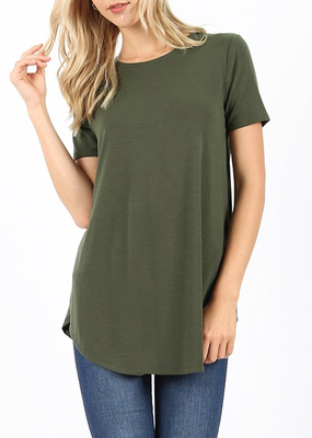 Zenana Perfect Basic Tee - Forest Green