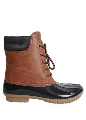 LA Shoe King Black & Brown Duck Boots