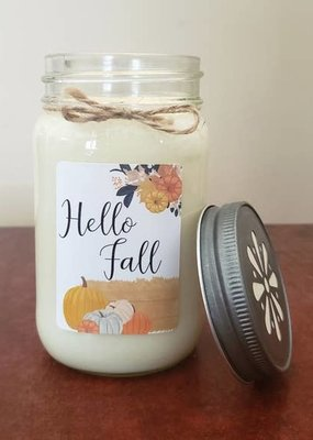 "Sugar Belle Candles ""Hello Fall"" Amish Harvest Candle - 13 oz."