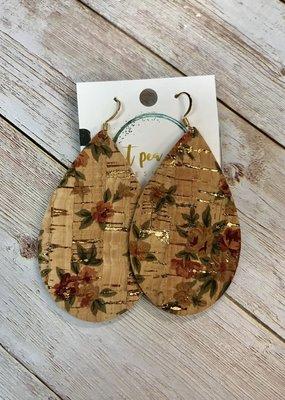 Sweet Pea and Me Designs Cork Floral Earrings