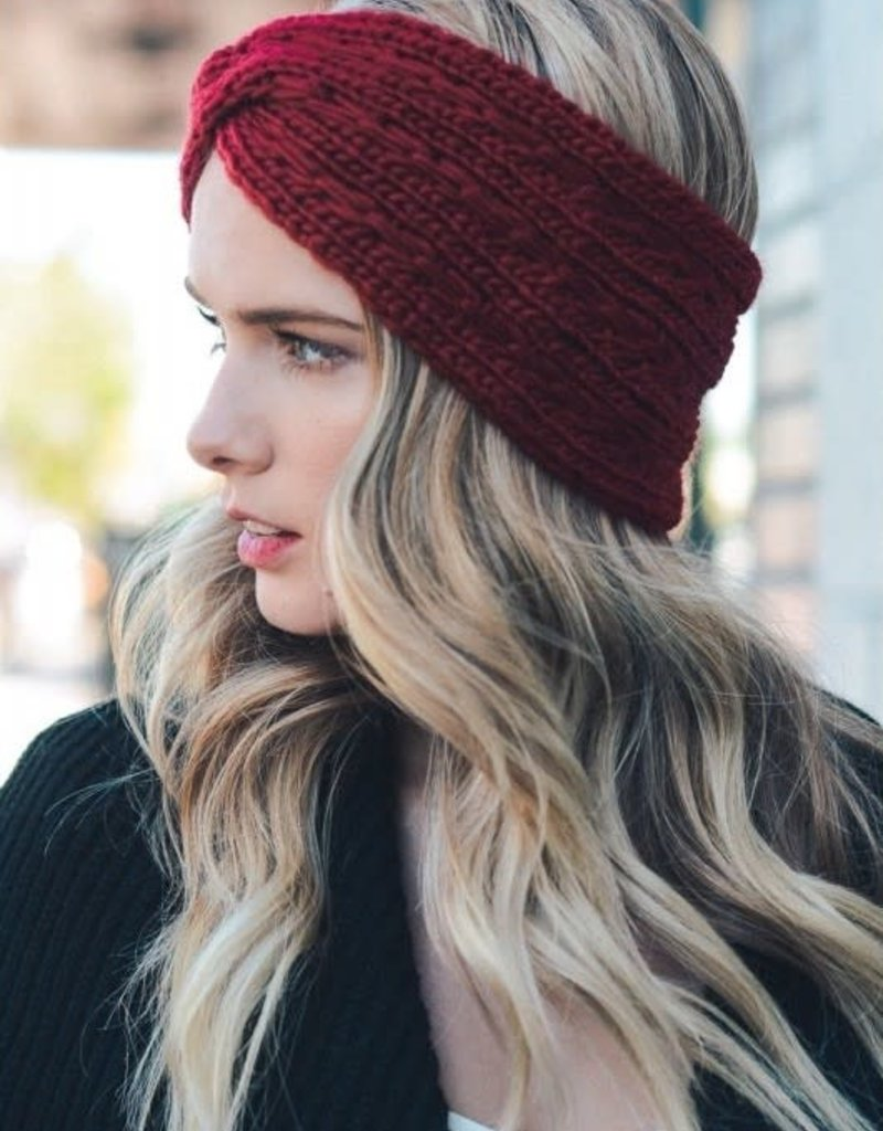 Olive & Pique Knit Twisted Headband