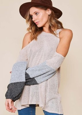 Fantastic Fawn Oatmeal Halter Knit Sweater