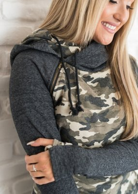 AMPERSAND AVE Camo Double Hoodie - Ampersand Ave