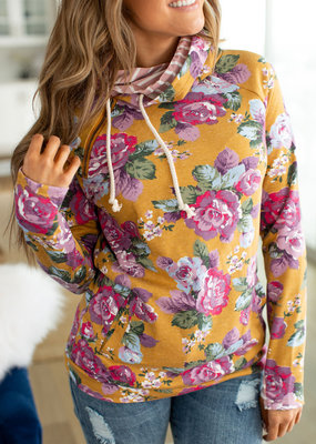 Ampersand Blooming Florals Double Hoodie - Ampersand Ave