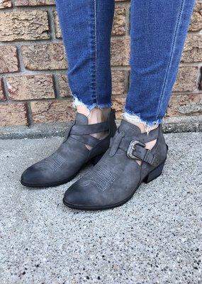 Miami Shoe Buckle Bootie - Grey