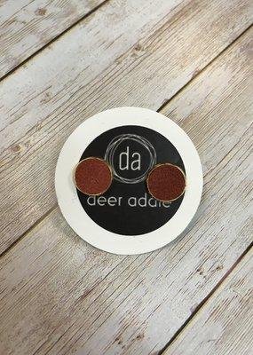 Deer Addie Suede Stud - Rust & Gold 07