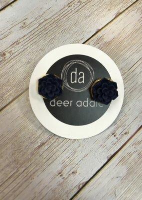Deer Addie Navy Succulent Studs 14