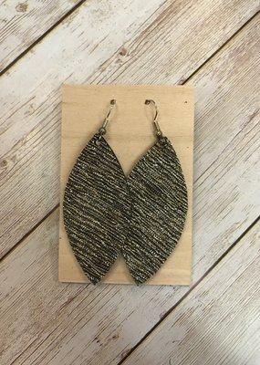 Deer Addie Handmade Leather Earrings - Silver and Gold
