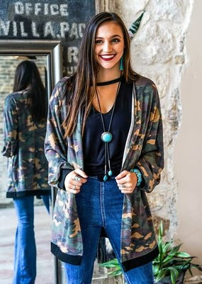 Lucky & Blessed Camo Cardigan