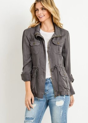 C'est Toi Dark Gray Tensil Jacket