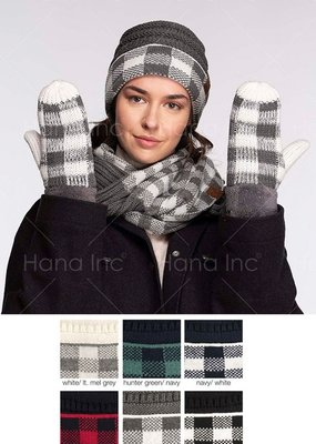 Hana CC Buffalo Plaid Mittens