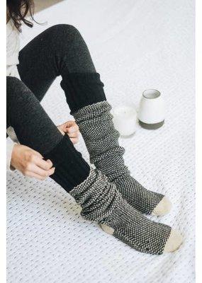 Leto Black Two Tone Lounge Sock