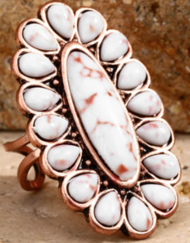 urbanista Bohemian Natural Stone Ring