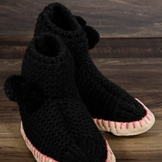 urbanista Black Snowflake Slipper