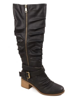 SOTD Footwear Black Slouchy Tall Boots