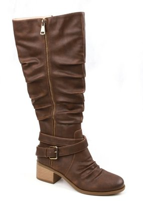 SOTD Footwear Brown Slouchy Tall Boots