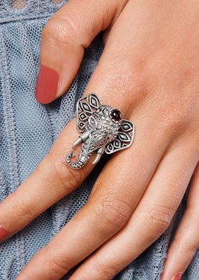 Boholove Elephant Gemstone Ring