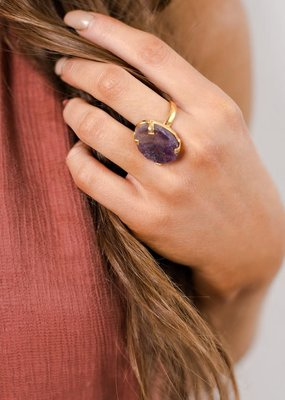 Boholove Purple Gemstone Ring