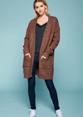 Reborn J Fall Brown Sweater Cardigan