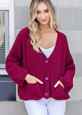 EESOME Slouchy Chunky Knit Cardi