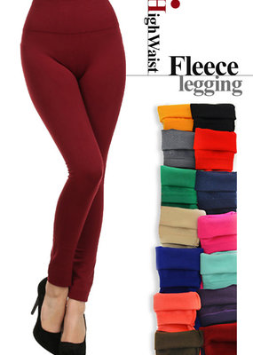 Soho Lady BLACK Fleece Lined Leggings