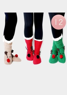 Rudolph Slipper Socks