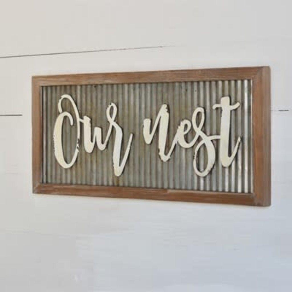 Home & Garden Our Nest - Tin Sign