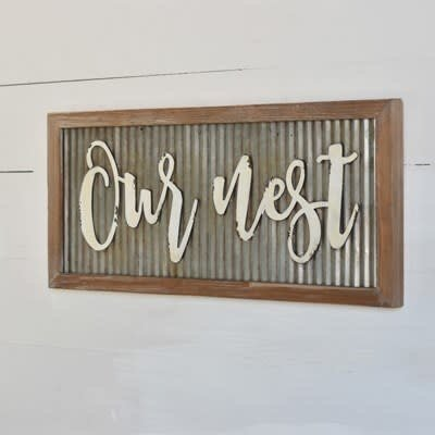 Home & Garden Our Nest - Tin Sign