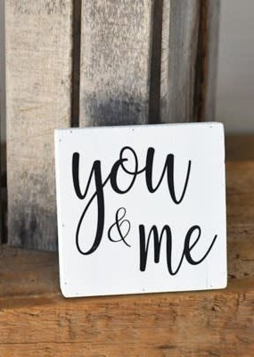 Home & Garden 8'' You & Me Wood Sign