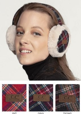 CC Fur Lined Ear Muffs