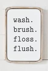 Modern Bathroom Sign Tin