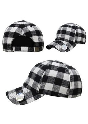 Black and White Buffalo Hat