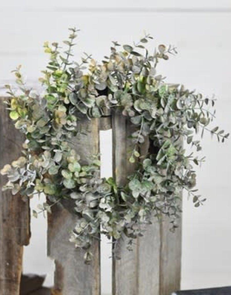 """Home & Garden 15"""" Eucalyptus Gray/Purple Wreath"""