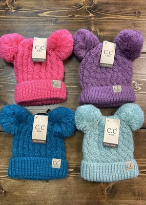 CC Kids Double Pom CC Hats