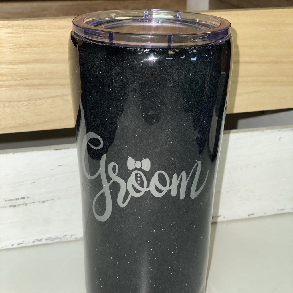 LTB Groom Black Tumbler