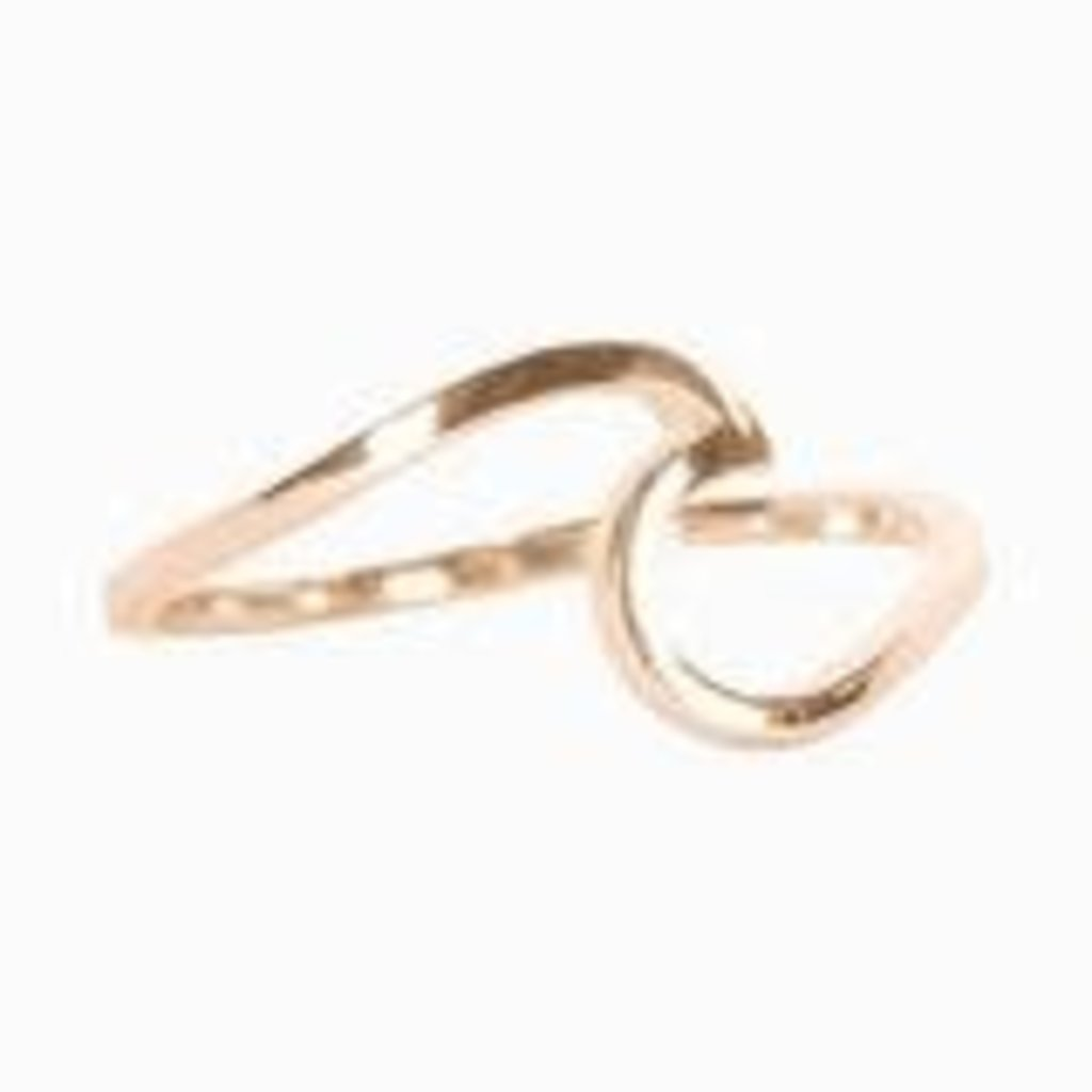 Puravida Wave Ring - Rose Gold