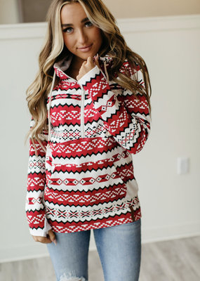 AMPERSAND AVE Holiday Aztec Half-Zip - Ampersand Ave